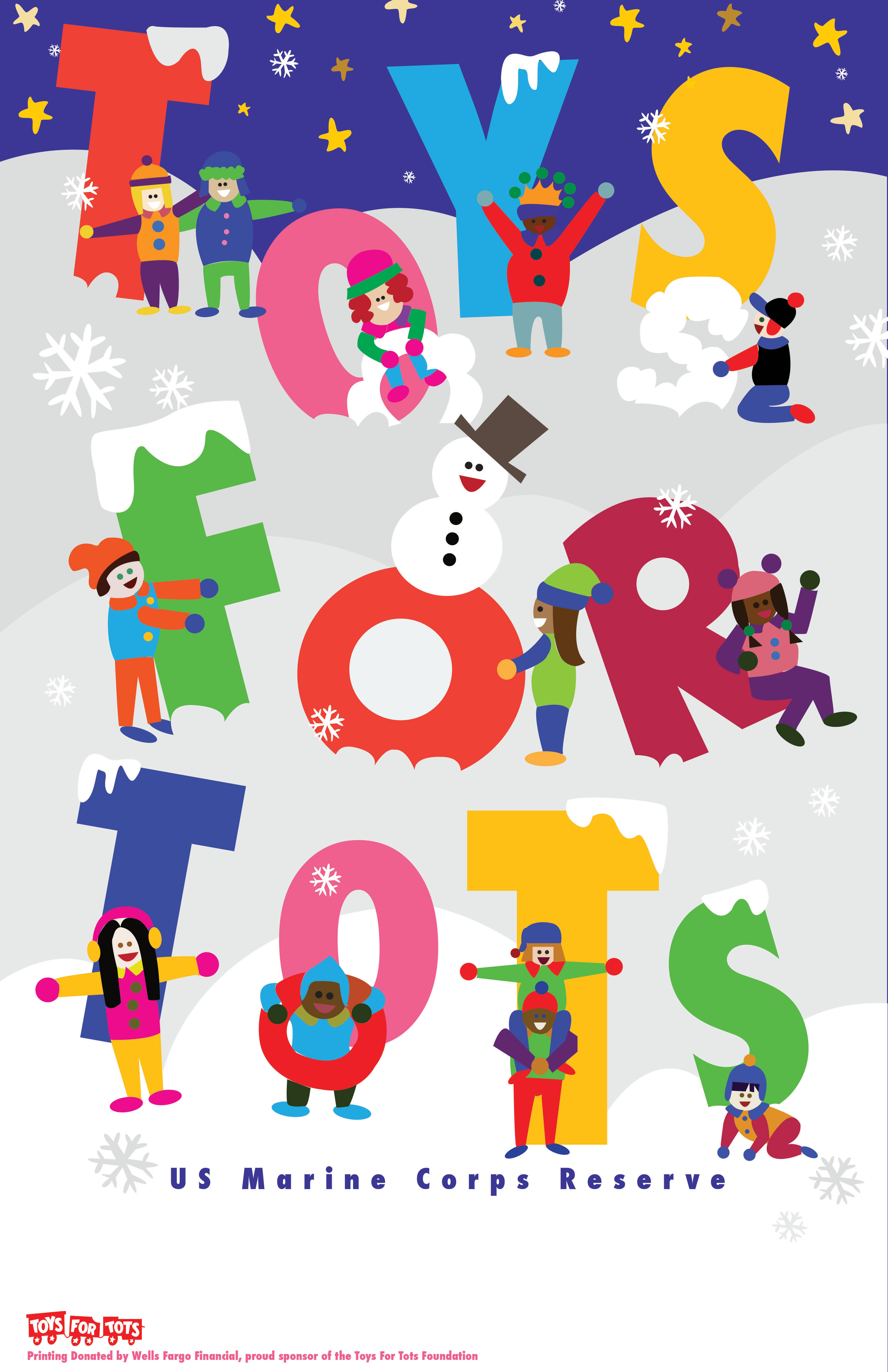 Toys For Tots Poster : Original poster toys for tots holidays seasons